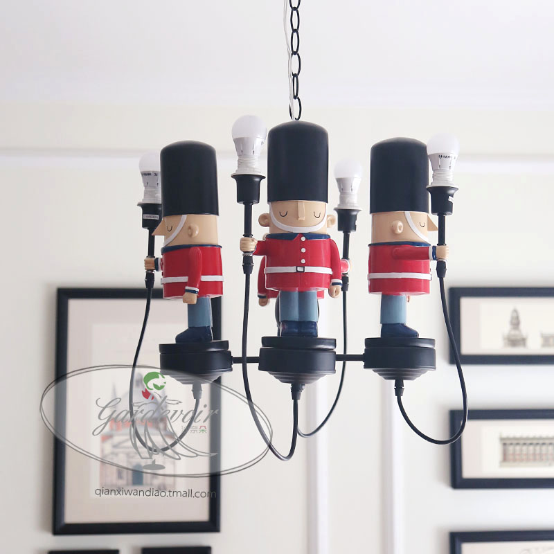 British soldiers English American soft sets pendant light boys and girls children's rooms bedroom pendant lamp ya882 think british english 1 cl aud cds 3