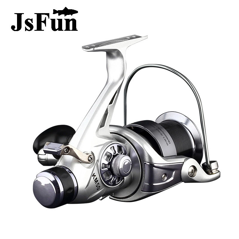 JSFUN Metal Fishing Reel Spinning Reel Stainless Steel Bearing Distant Wheel KM50 KM60 Series 12+1BB 5.2:1 fr3 our distant cousins