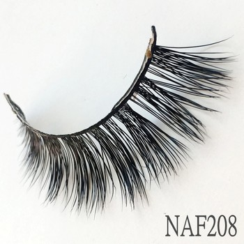 UPS Free Shipping 50pair 3D Mink False Eyelashes 100% Cruelty Free Criss-cross Lashes Thick Natural Lashes Wispies Fluffy Lashes