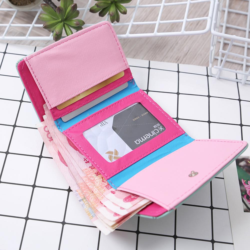 Aelicy Women Cute Owl Printing Small Girl Wallet Brand Designed PU Leather Women Coin Purse Female Wallet for Credit Cards