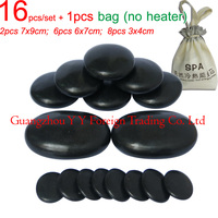 Wholesale 16pieces Set Beauty Spa Oval Energy Hot Stone With Simple Bag New Type High Quality