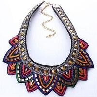 Doreenbeads Европейская мода в народном стиле из бисера поддельные воротник ручной работы Цепочки и ожерелья для женское платье шифоновая рубаш...