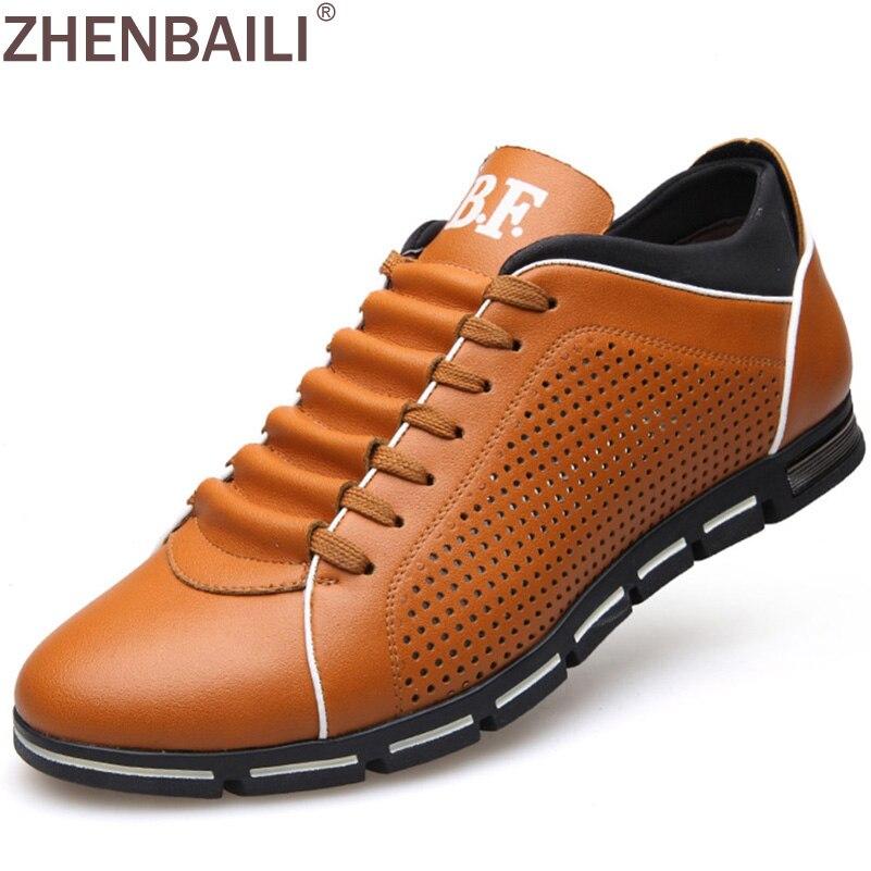 Aliexpress.com  Buy Brand Men Shoes 2017 Fashion Summer Menu0026#39;s Business Casual Shoes PU Splicing ...