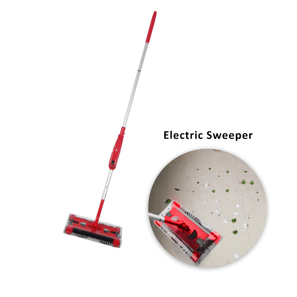 Cordless Electric Sweeper Hand-push Type Mop Rechargeable Battery Dust Collector 360Degrees Rotation Carpet Floor Cleaner jiqi sweeping mop machine vacuum cleaner handheld cordless electric sweeper rechargeable dust collector cleaning broom 110v 220v