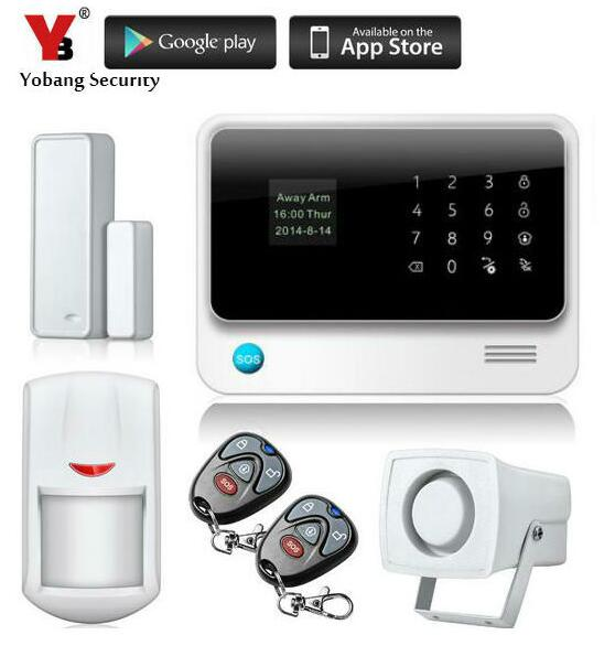 YoBang Security Wireless GSM WIFI Home Security Alert System G90B Android IOS APP Controls PIR Motion Door Window Sensor 433MHZ yobang security lcd screen 433mhz remote control home security system gsm alarm system wireless pir motion door window sensor