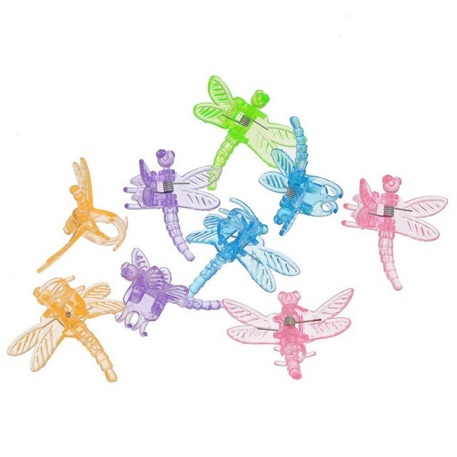 24  Mixed Plastic Dragonfly Hair Clips Hair Accessories