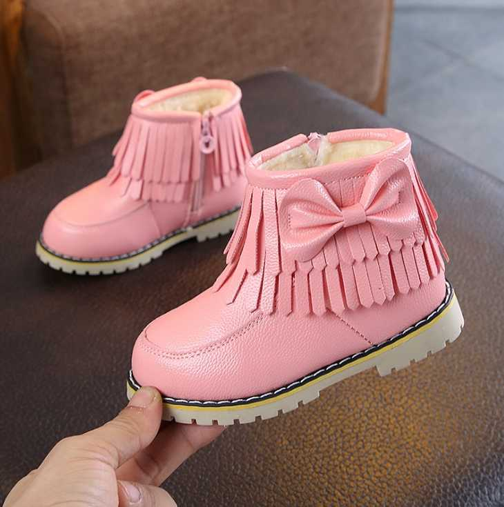 Children's shoes 2019 winter new girls short boots kids baby cotton boots waterproof boots student shoes