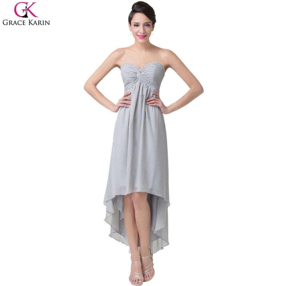 Evening Dress Grace Karin Strapless Chiffon Hi Low Short