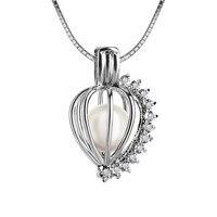 Heart Shape 925 Silver 6 7mm Akoya Pearl Pendant