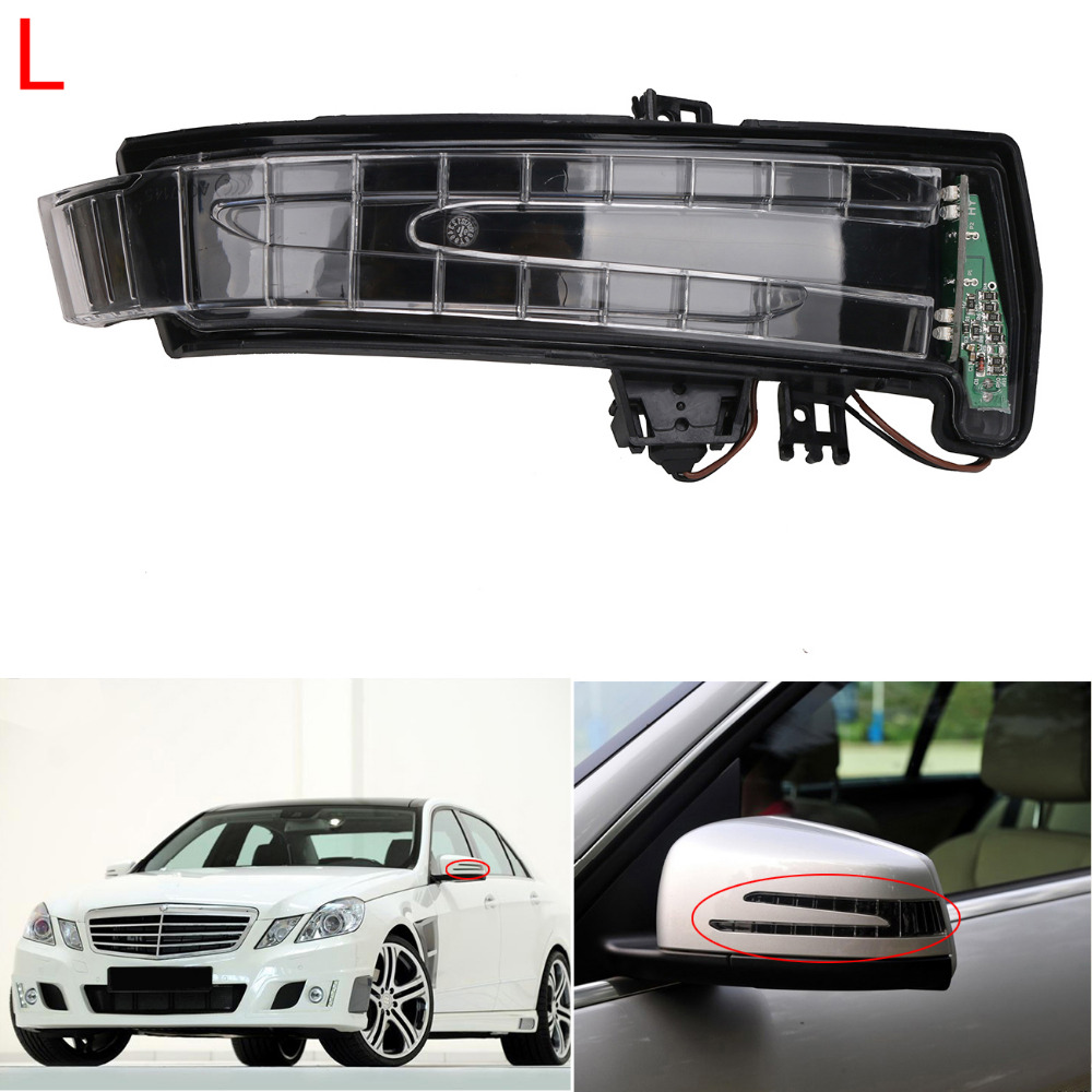 Left LED Rearview Side Mirror Indicator Turn Signal Light