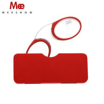 604b070040 MEESHOW 3 unids/lote Mini cartera clip de la nariz en las gafas de lectura  de + 1,0 a + 3,5 portátil SOS con lector de caso de la mezcla del Color de  ...