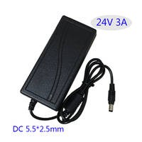Switching Power Supply AC DC Adapter 24V 3A 72W Camera Power Adapter Table Type EU USA