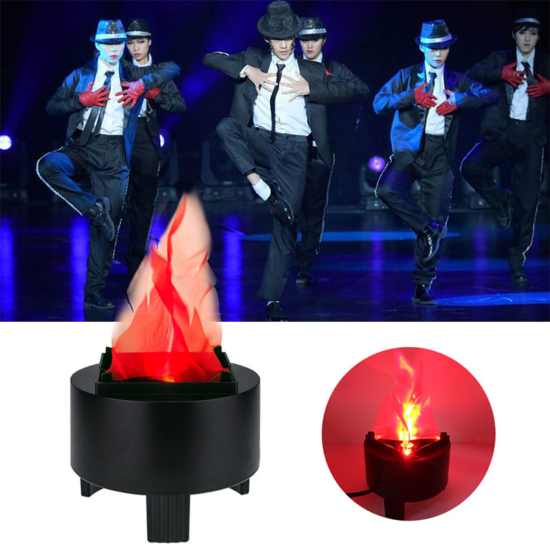 Novelty Virtual Fake Fire Flame Stage Effect Light Led Cloth Silk Flame Torch Light For Party KTV Bar Entertainment Stage Lamp