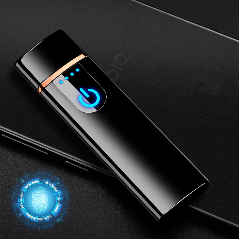 Image 2 - 2018 New LED Screen Battery Display USB Lighter Rechargeable Electronic Lighter Winderproof Flameless Double Side Cigar Plasma-in Cigarette Accessories from Home & Garden