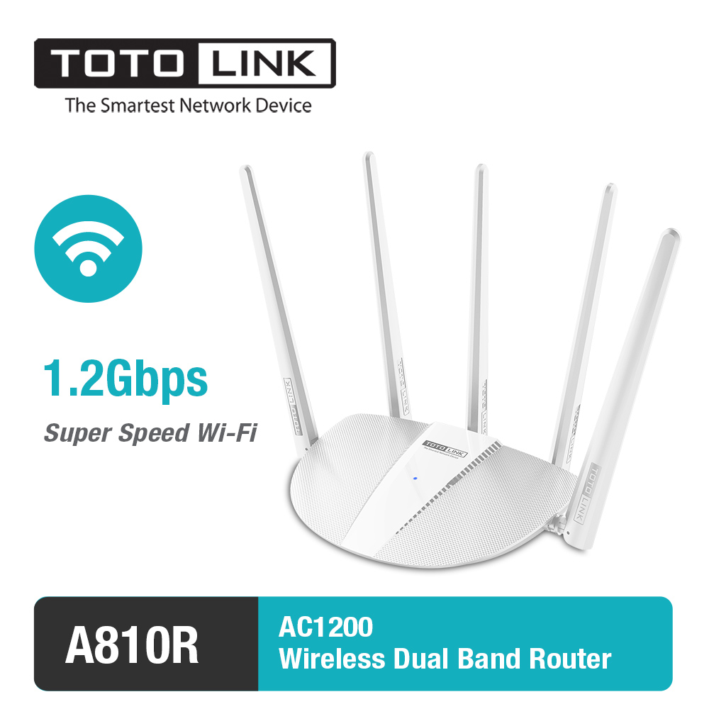 TOTOLINK A810R Smart AC1200 Wireless Dual Band Wifi Router Wi-Fi Universal Repeater support PPTP/L2TP/Range Extender,Easy Setup