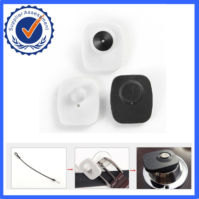 8.2Mhz RF EAS Tags mini square eas hard tags retail security tags for RF system with pins,durable eas security tag  strong ABS