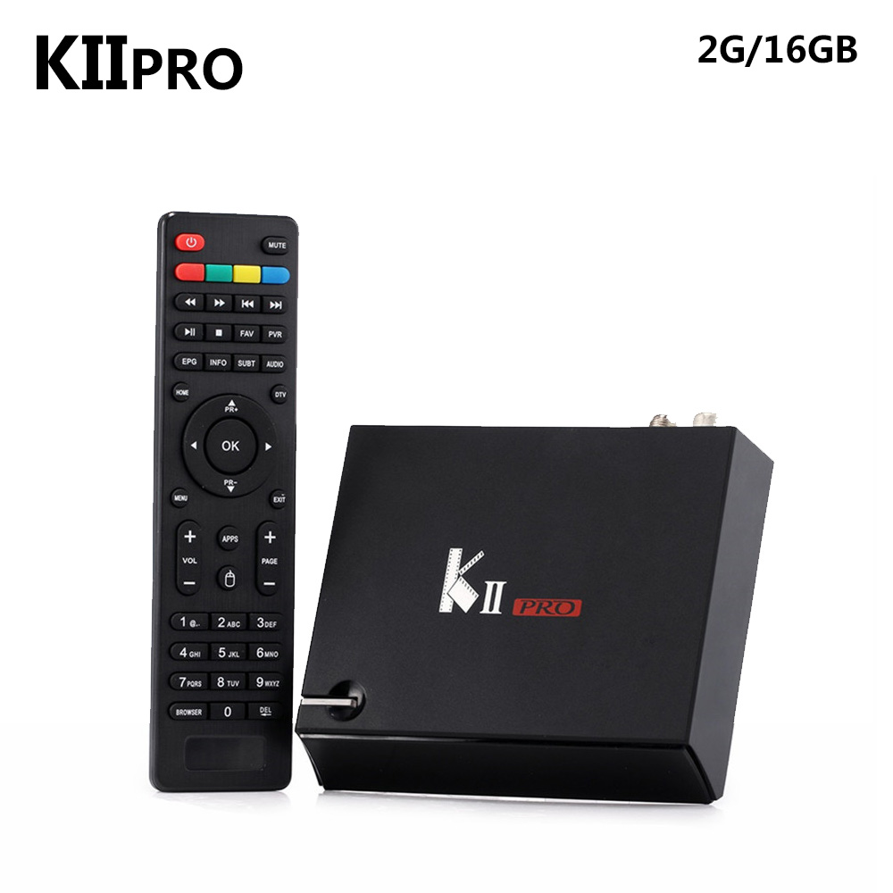 SZ KII Pro DVB S2 T2 Android 5.1 TV Box Amlogic S905 Bluetooth 4.0 2GB/16GB 2.4G/5G Smart Media Player i box rs232 dvb s satellite smart sharing nagra 3 dongle black