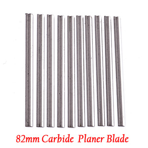 Image 5 - 10Pcs Reversible Carbide Planer blades 82mm x 5.5mm For Cutting Soft Hard Woods Ply wood Board Mayitr Woodworking Power Tool