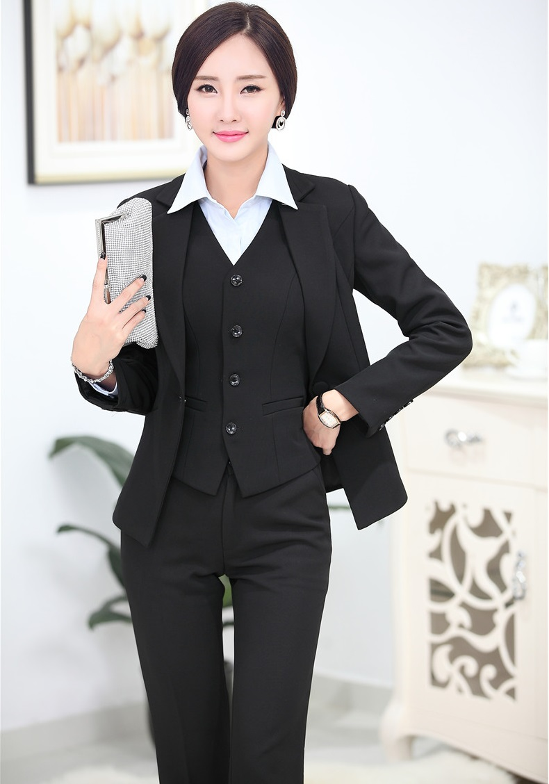 Popular Black Women Suit Custom Women Suit Brand Womenu0026#39;s Suits 2 Piece (Vest + Pants ) 495-in Womenu0026#39;s ...
