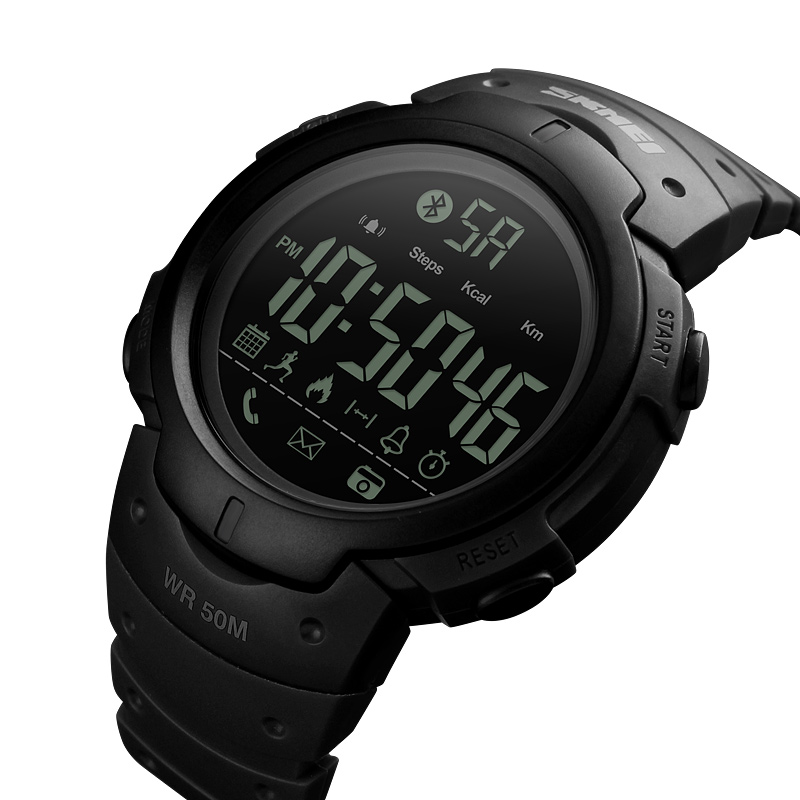 <font><b>SKMEI</b></font> Men Smart Sports Watch Pedometer Calories Digital Reminder Watches Fitness Bluetooth For IOS Android Wristwatches <font><b>1301</b></font> image