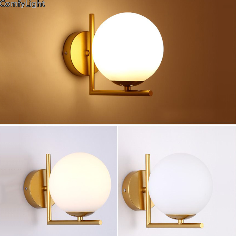 Modern Led Wall Lamp Sconce For Living Room Bedroom Wall Light Iron ...