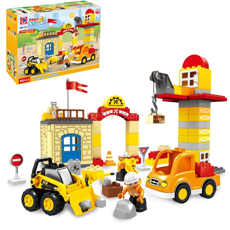 90PCS City Engineering Construction Building Block Excavating machinery Diy Brick Set Kids Toys compatible with Legoing Duplo карликовое дерево 1 90pcs diy