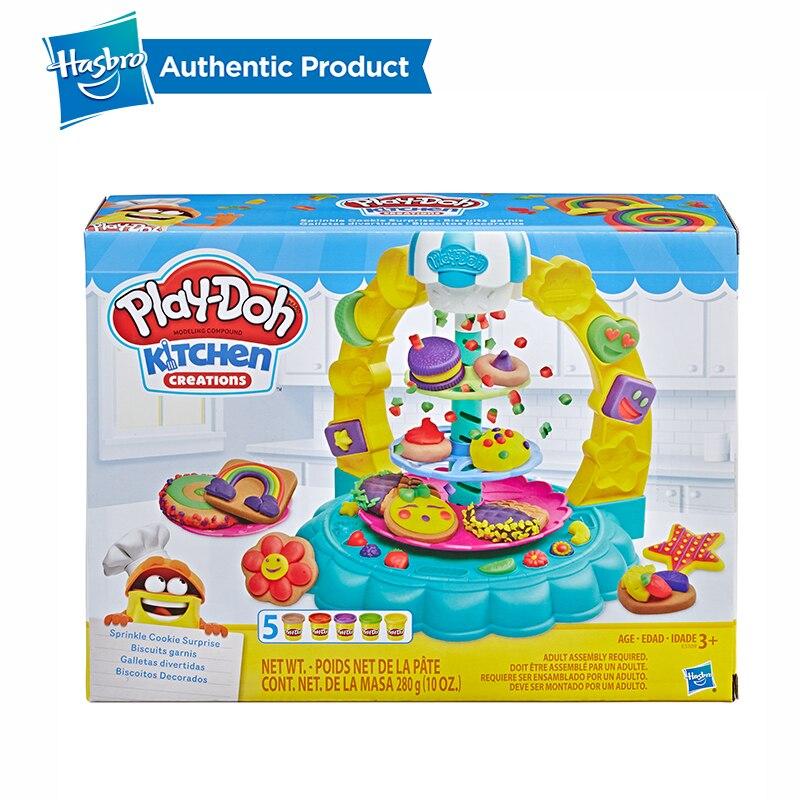 Hasbro play-doh cuisine créations saupoudrer Cookie Surprise jouer nourriture ensemble jouer Doh Non toxique pâte à modeler éducatifs bricolage jouets - 2