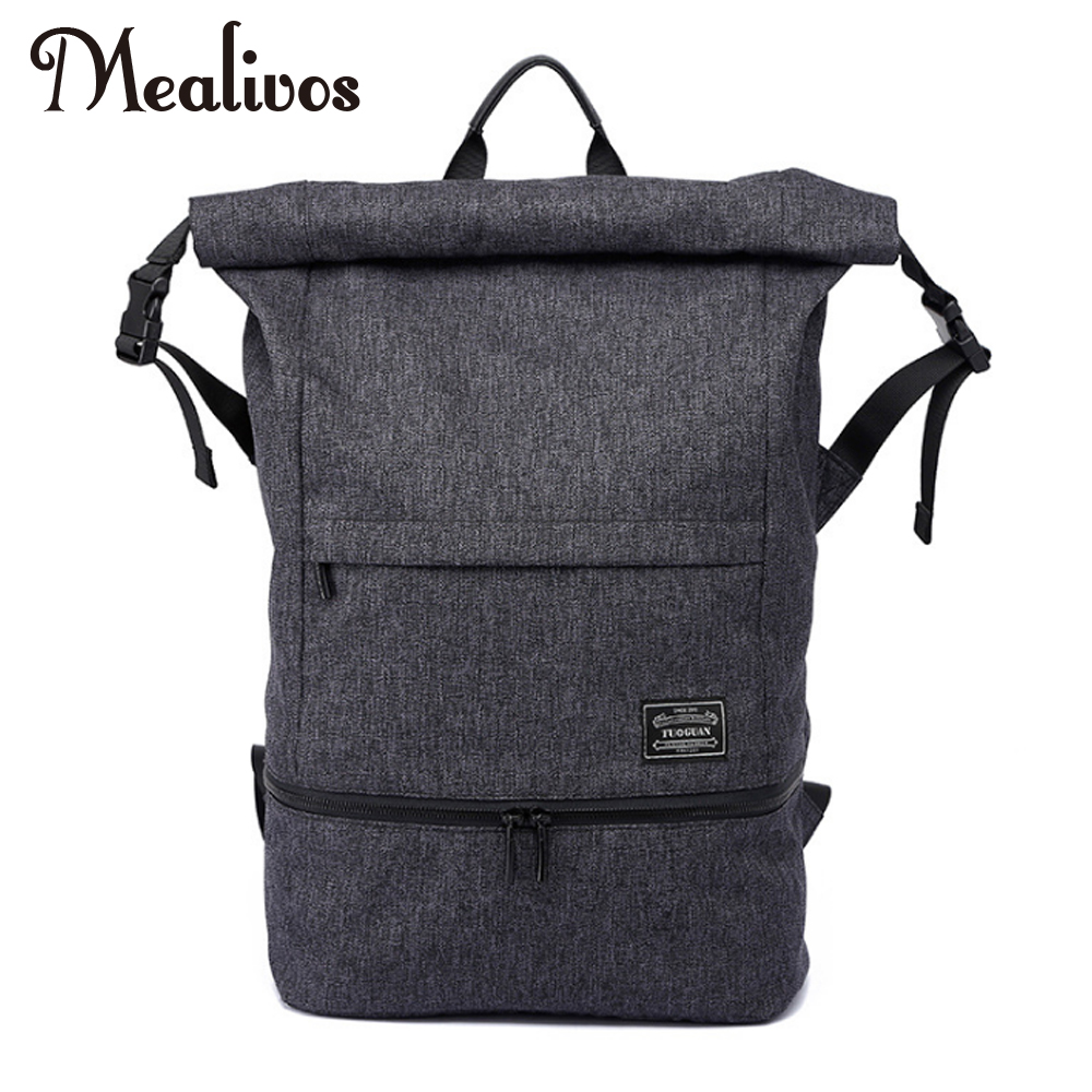 Купить с кэшбэком Mealivos 18.5 inches Water Resistant Casual Laptop Backpack With Shoe Compartment  Large Capacity Student Backpack