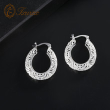 Fashion Charm Hollow Cubic geometric Out Hoop exaggerated Big Circle Ear Trendy Jewelry Accessories silver Earrings For Women недорго, оригинальная цена