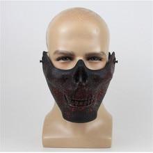 b93116079a49 Takerlama D horreur En Plastique Crâne Mâchoire Masque Terreur Demi Face À  Répugné Squelette Fantôme Masque pour Halloween Party.