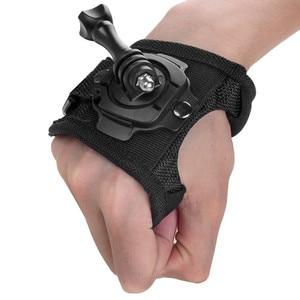 Image 5 - כפפת יד יד הר רצועת 360 תואר סיבוב מחזיק + ארוך בורג לgopro Hero 7/6/5 /4/3/2/1 SJCAM Xiaomi יי אבזרים