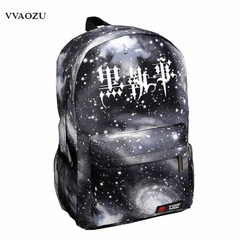 Black Butler Kuroshitsuji Cartoon Students Bookbag Schoolbags Mochila Unisex Backpack Free Shipping