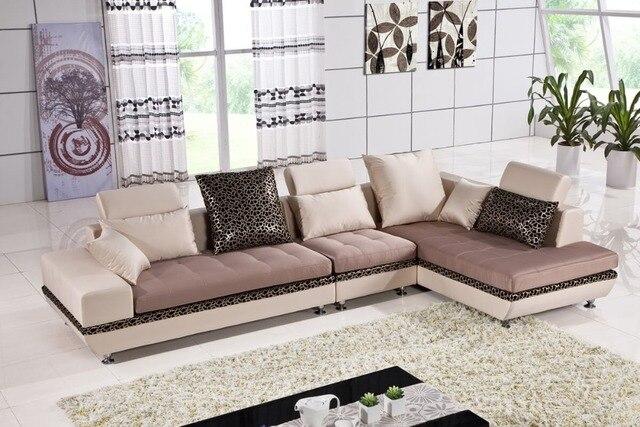 Moderne lavable étanche tissu canapé d\'angle ensemble salon canapé ...