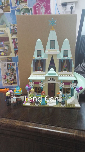 SY371 Elsa Anna 2017 New Arrival Arendelle Castle Celebration Model Building Blocks minis Bricks Toy Leping Compatible