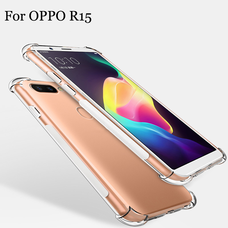 2PCS Fashion ultra-thin phone cases For OPPO R15 case transparent TPU soft back cover For OPPO R 15 shell case cover full capas