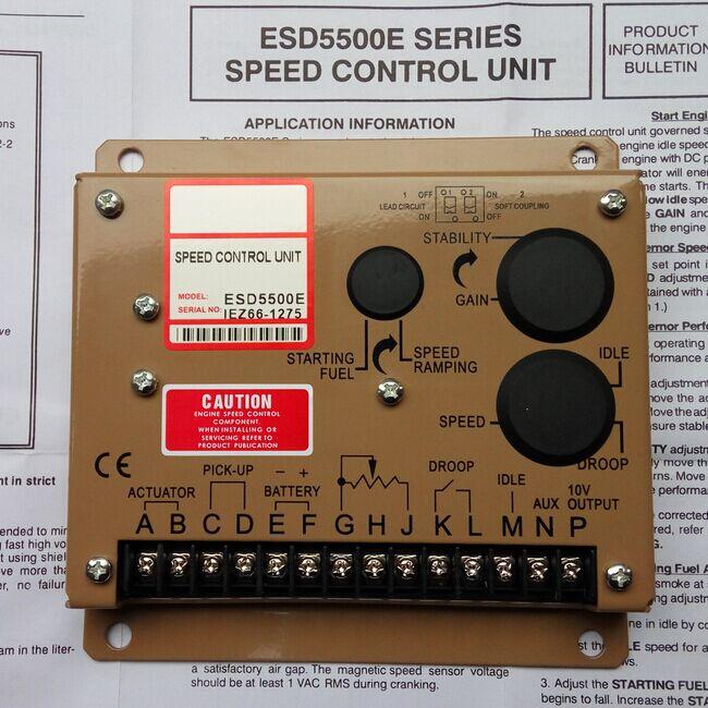 ESD5500E unité de contrôle de vitesse de générateur diesel ESD5500E + livraison gratuite rapide