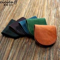 CICICUFF портмоне для мужчин и женщин маленький кошелек для девочек сумка ручной работы ретро кожаный складной карман для монет мини-монеты сум...