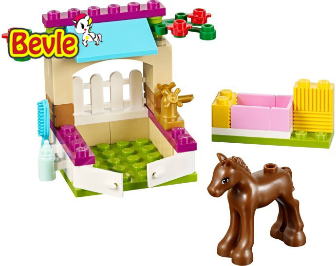 Bela 10533 Friends 43Pcs Horse Stable New Style Hot Sale Building Block Bricks Toys Compatible with  41089 hot sale bela 10162 girls friends andrea marie s cafe building block sets abs figures assemble bricks compatible with lego toys