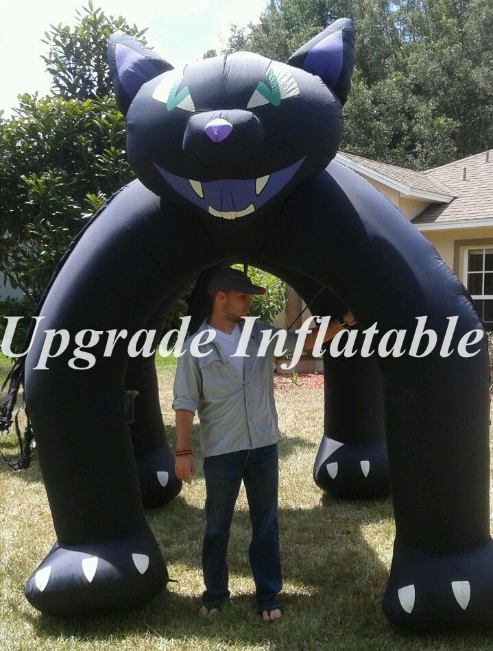 hot sale 10ft tall yard decoration halloween inflatable black cat arch - Halloween Inflatable Yard Decorations