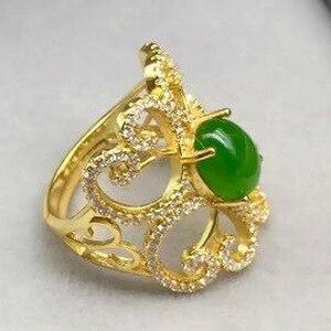 Image 3 - KJJEAXCMY Edlen schmuck 925, sterling silber überzogene natürliche jasper damen gold ring