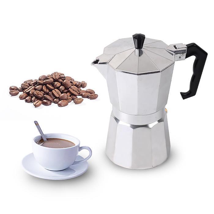 Durable Portable  Aluminum  Coffee Pot Professional 100/150/300/450/600ML Percolator CafetierDurable Portable  Aluminum  Coffee Pot Professional 100/150/300/450/600ML Percolator Cafetier