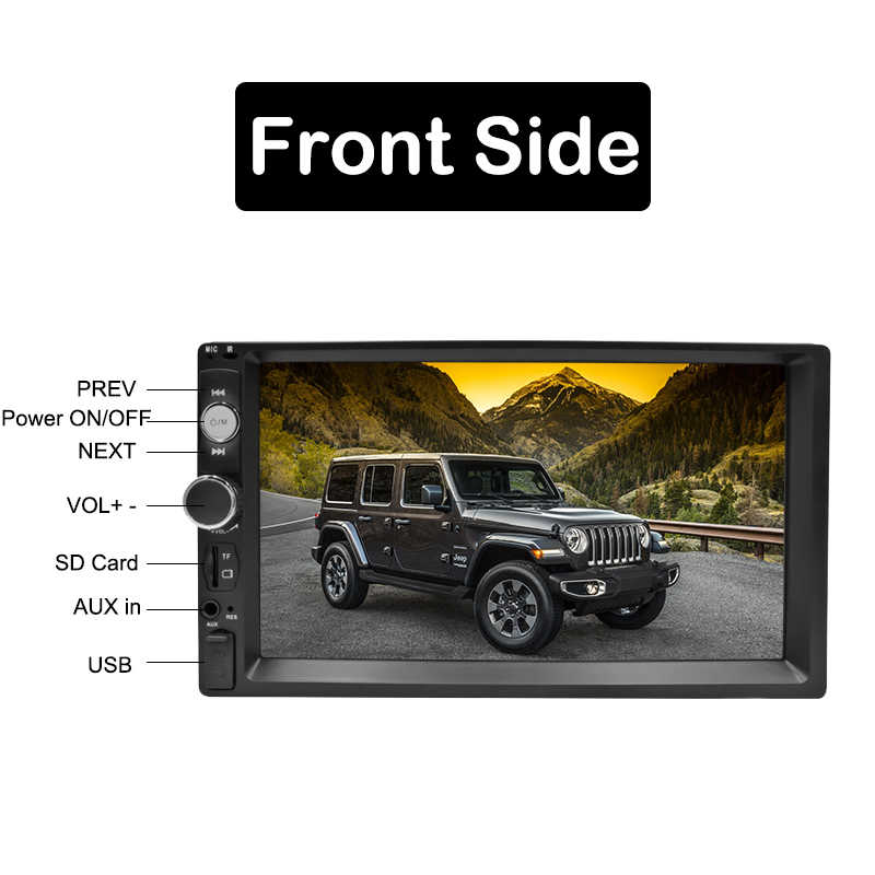 "2 Din Auto Radio 7 ""HD Autoradio Multimedia Player 2DIN de pantalla táctil Auto Audio estéreo de coche MP5 Bluetooth TF USB FM Cámara Android"