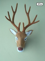 new simulation sika deer head model polyethylene&furs sika deer head wall pandent doll gift 27x18cm xf956