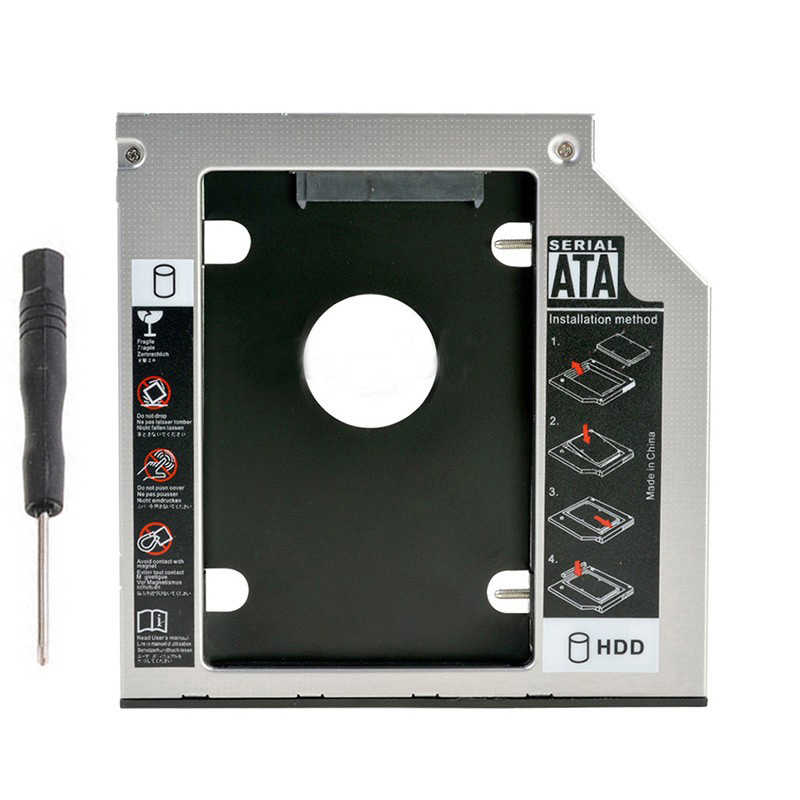 9.5mm SATA 2nd SSD HDD Caddy dla Hp Probook 640 645 650 655 G0 G1 G2 240 G2 242 g2 bardzo ciężko napęd dysku Caddy