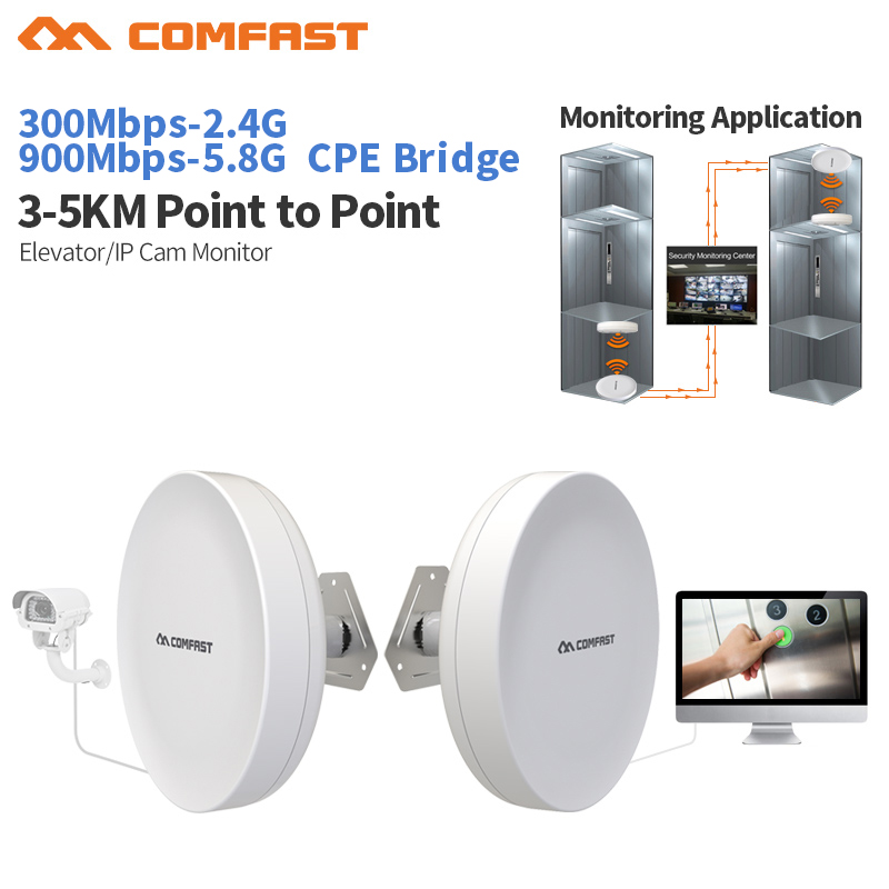 2.4 & 5.8Ghz Outdoor Powerful Wi fi Repeater 300-900 Mbps Wireless Router Wifi Repeater Long Range Extender Booster Antenna cpe comfast original indoor ap wi fi repeater 1200mbps wireless n router 2 4 5 8g wifi repeater bridge long range extender booster