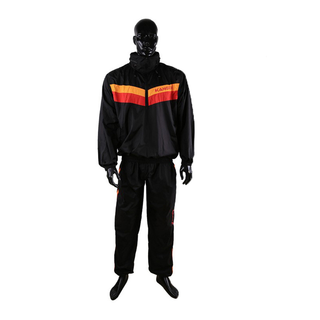 Waterproof unbreathable Red Sweat coat sauna suit male female running fitness uniform lose weight reduce body weight clothing 2
