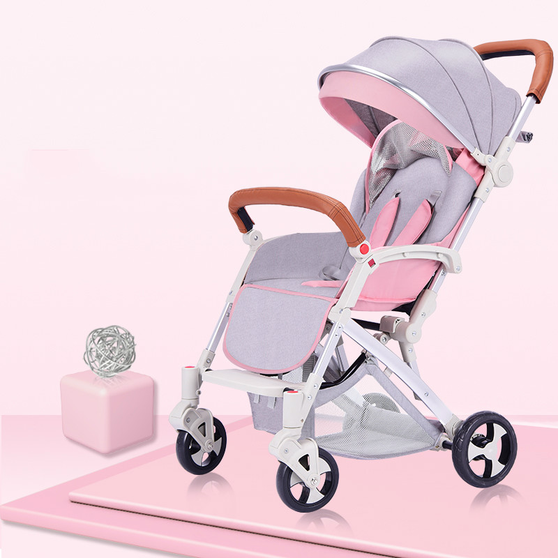 Baby stroller seated reclining light portable folding umbrella child four wheel shock absorber stroller baby stroller babyruler ultra light portable four wheel shock absorbers child summer folding umbrella cart