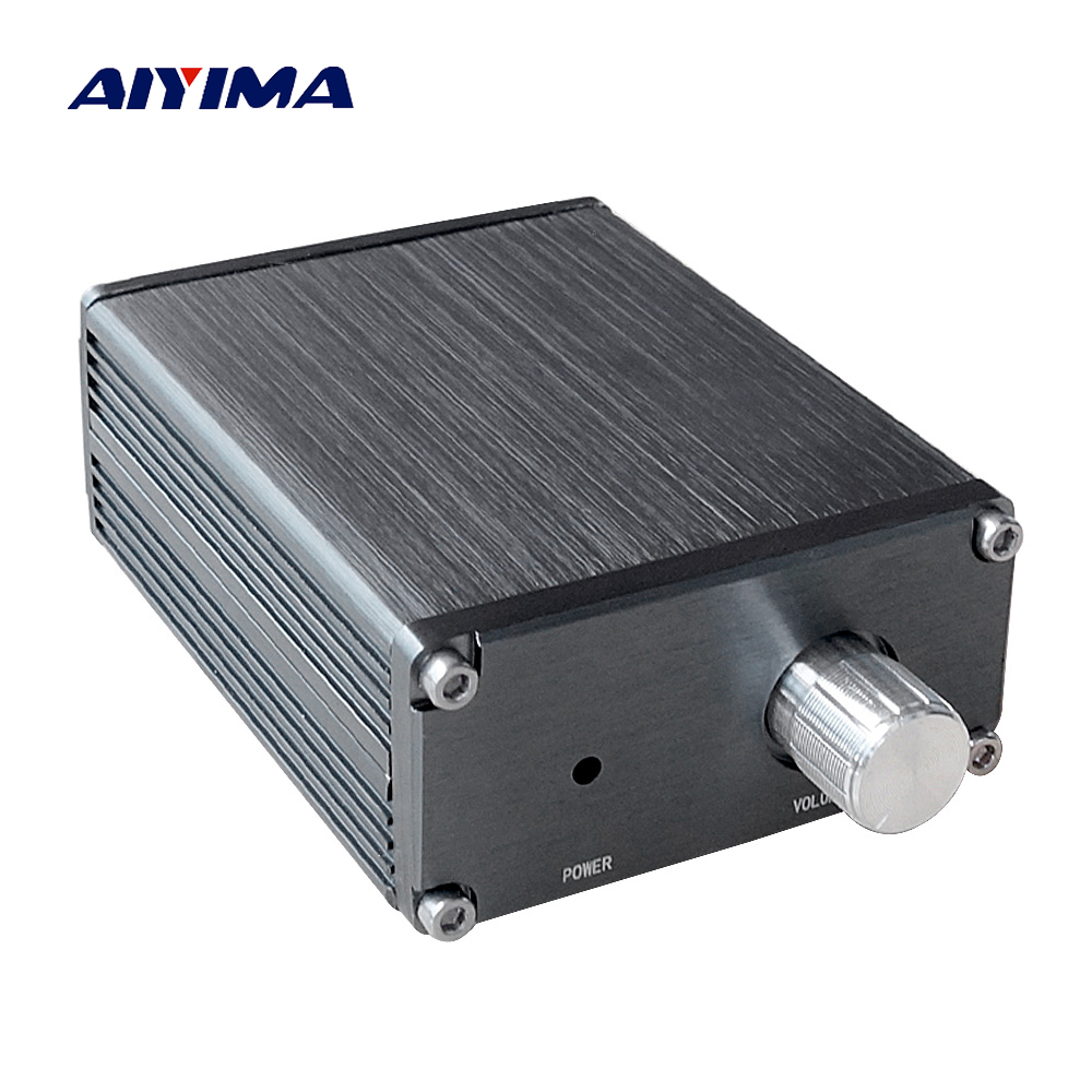 Aiyima 100W TPA3116 Subwoofer Audio Amplifier TPA3116D2 Mono Digital Power Amplifiers NE5532 OP AMP With Case aiyima tpa3116 4 1 bluetooth amplifiers audio board digital class d amplifier 4 50w 100w amplificador audio 24v car subwoofer