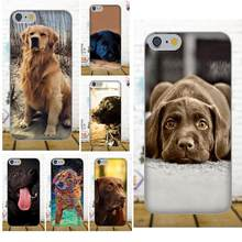 Soft Cell Case For Apple iPhone 4 4S 5 5C SE 6 6S 7 8 Plus X For LG G4 G5 G6 K4 K7 K8 K10 Puppy Labrador Retriever Dog Design(China)