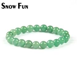 Schnee Spaß Neue Ankunft 8mm Aventurin Stein Perlen Armband